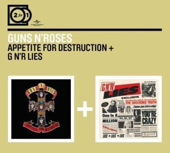 GUNS N' ROSES: 2 FOR 1:  APPETITE FOR DESTRUCTION / G N LIES (CD)