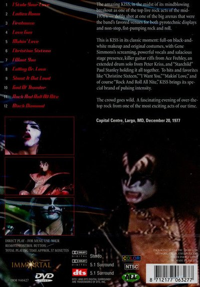 KISS: LIVE IN MARYLAND 1977 (DVD)