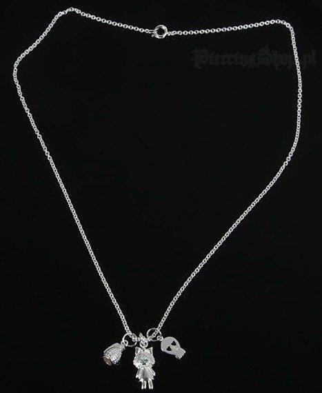 Srebrny łańcuszek GRANAT CZACHA DZIEWCZYNKA oczko turkusowe [SPE-46]