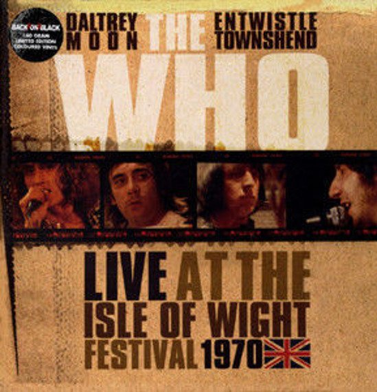THE WHO: LIVE AT THE ISLE OF WIGHT (3LP VINYL)