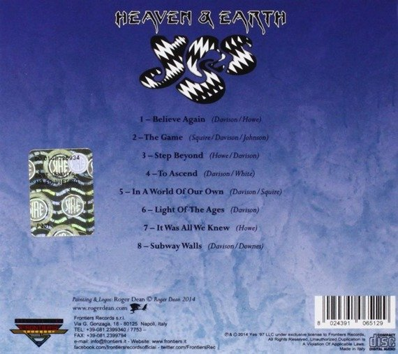 YES: HEAVEN & EARTH (CD)