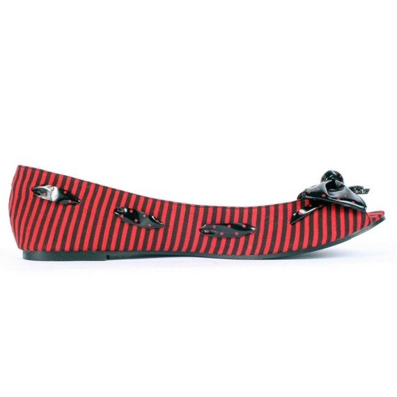balerinki IRON FIST - BREAK IN FLAT (RED/BLACK)