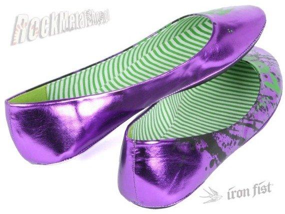 balerinki IRON FIST (Love Kills Ballet Flat)(Metallic Purple)  '09