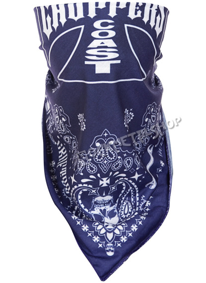 bandana WEST COAST CHOPPERS - HANDCRAFTED BLUE