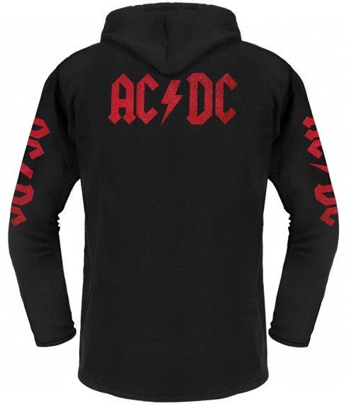 bluza AC/DC czarna, z kapturem