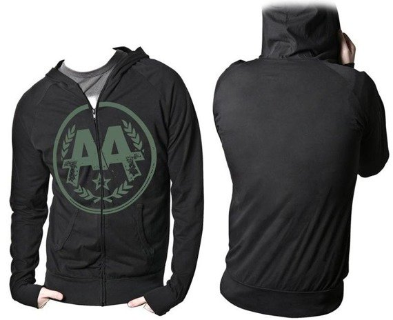 bluza ASKING ALEXANDRIA - CIRCLE LOGO, rozpinana z kapturem