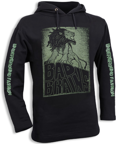 bluza BAD BRAINS czarna, z kapturem