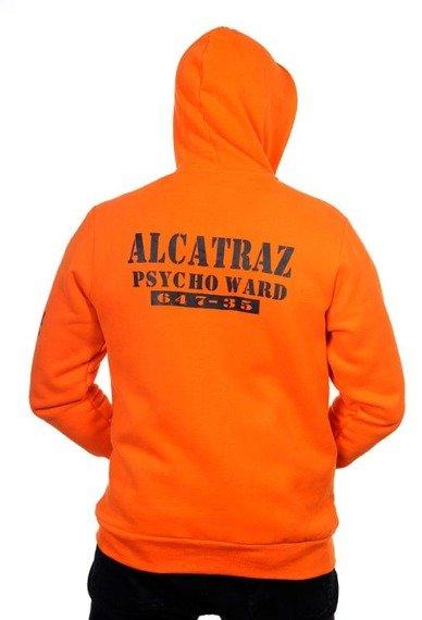 bluza BANNED - ALCATRAZ PSYCHO WARD, rozpinana z kapturem