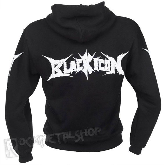 bluza BLACK ICON - TOM AND JERRY czarna, rozpinana z kapturem (HZICON036BLK)