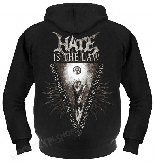 bluza HATE - SOLARFLESH - IS THE LAW rozpinana, z kapturem
