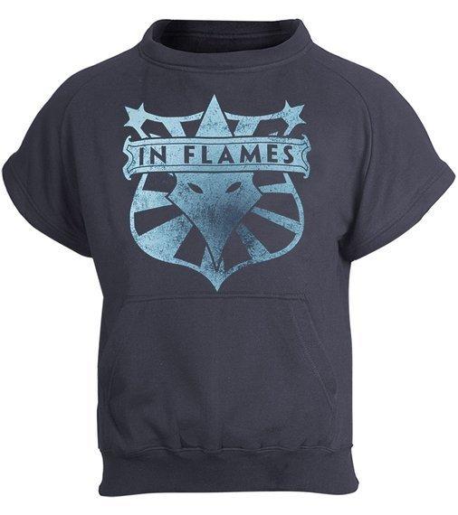 bluza IN FLAMES kangurka z kapturem, odpinane rękawy i kaptur