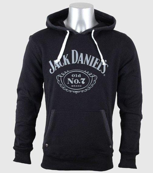 bluza JACK DANIELS - OLD NO.7 czarna kangurka, z kapturem