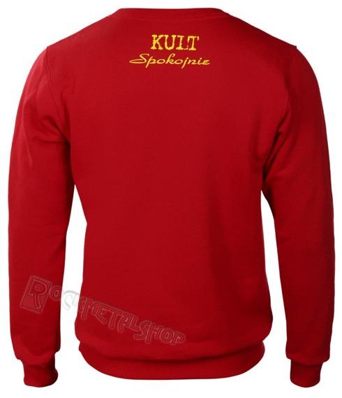 bluza KULT - SPOKOJNIE czerwona, bez kaptura