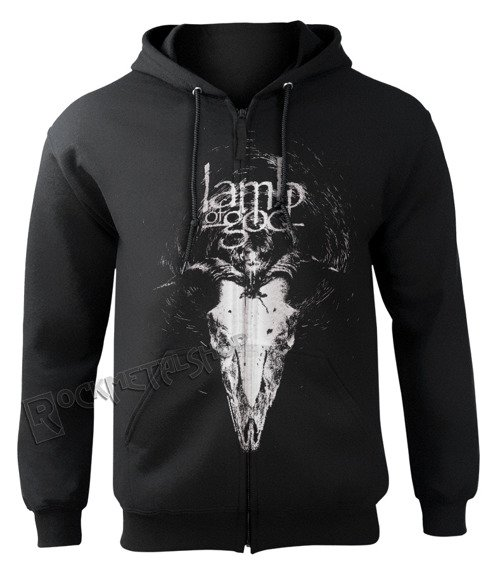 bluza LAMB OF GOD - CANDLE LIGHT, rozpinana z kapturem