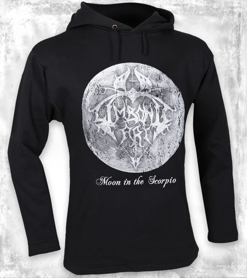bluza LIMBONIC ART - MOON IN THE SCORPIO czarna, z kapturem