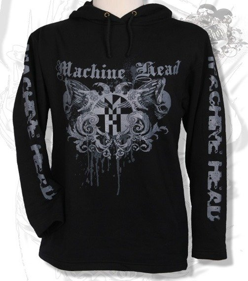 bluza MACHINE HEAD czarna, z kapturem