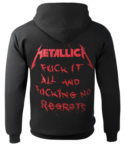 bluza METALLICA - NO REGRETS rozpinana, z kapturem