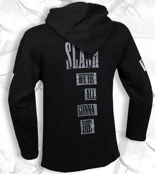 bluza SLASH - WE'RE ALL GONNA DIE czarna, z kapturem