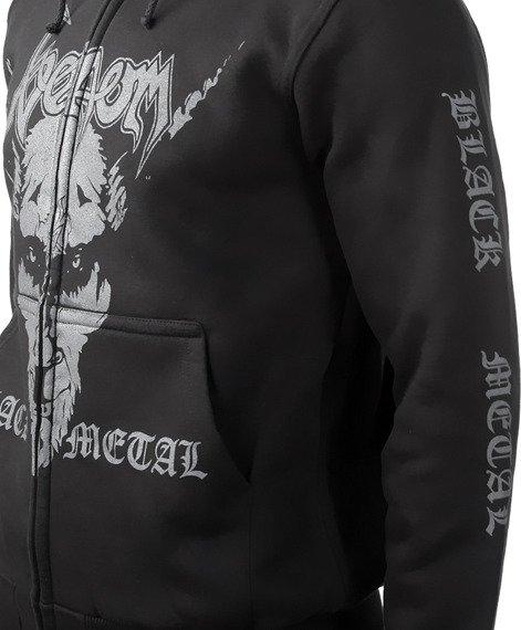 bluza VENOM - BLACK METAL rozpinana, z kapturem
