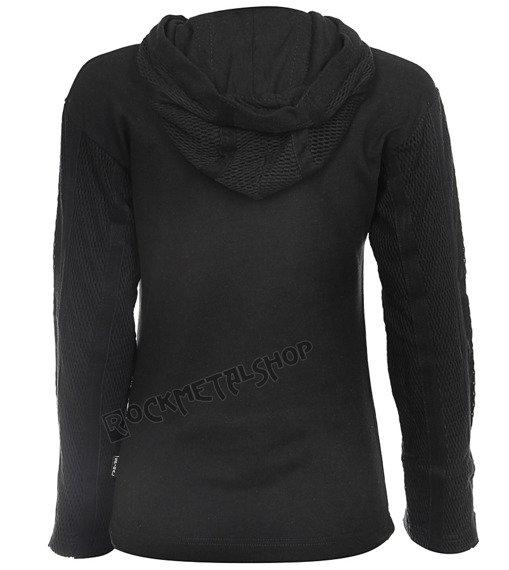 bluza damska BAT CAT czarna, z kapturem