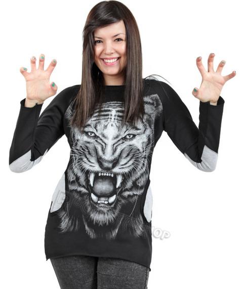 bluza damska TIGER, z kapturem