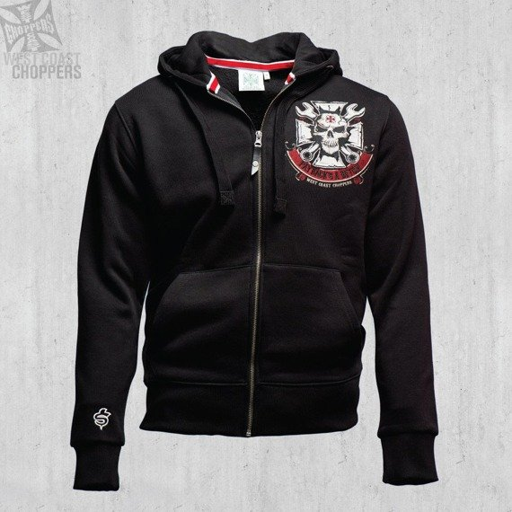 bluza rozpinana WEST COAST CHOPPERS - MECHANIC czarna