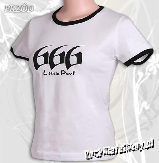 bluzka damska 666 LITTLE DEVIL biała