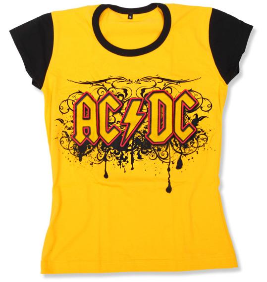 bluzka damska AC/DC - LOGO żółta