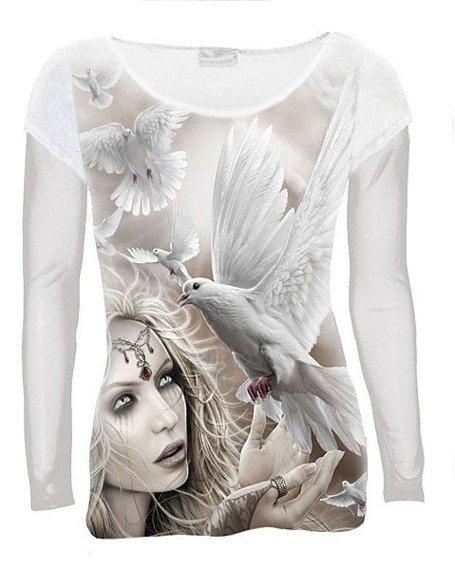 bluzka damska ANGEL DOVES długi rękaw