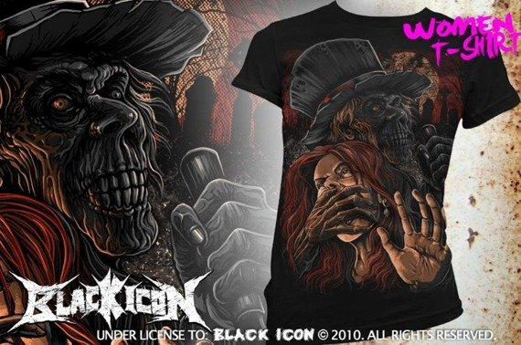 bluzka damska BLACK ICON - KILLER (DICON094 BLACK)