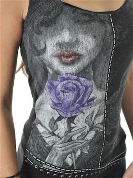 bluzka damska KISS OF THE BLACK ROSES