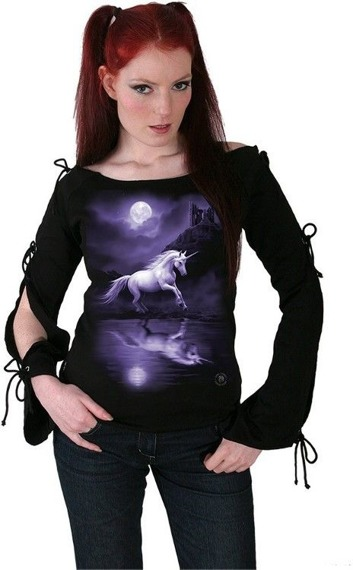 bluzka damska MOONLIGHT UNICORN długi rękaw