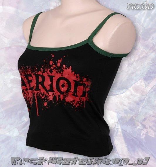 bluzka damska THERION - LOGO na ramiączkach