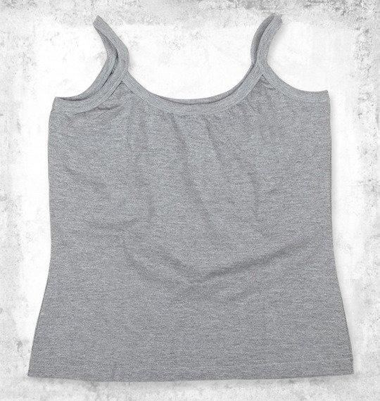 bluzka na ramiączka NIRVANA - LOGO szary melanż