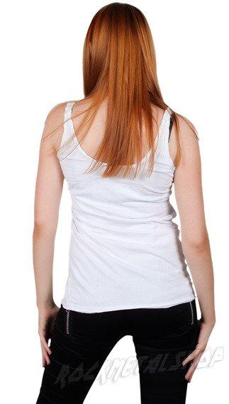 bluzka na ramiączka ROLLING STONE - VIETNAM DIAMANTE biała