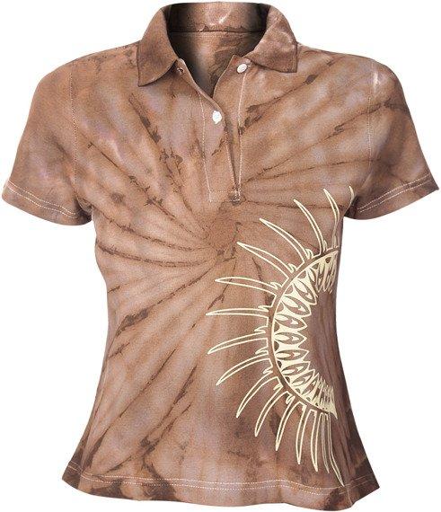 bluzka polo barwiona BROWN MIX - IROKEZ