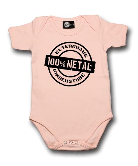body dziecięce ELTERNHAUS: 100% METAL różowe