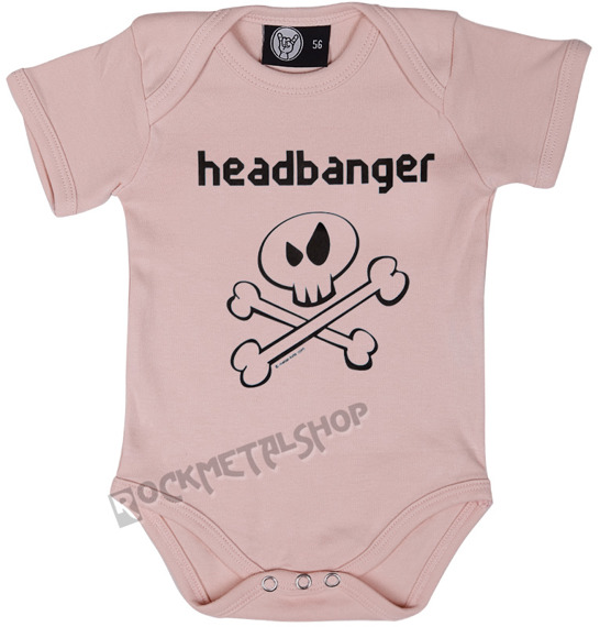 body dziecięce HEADBANGER różowe