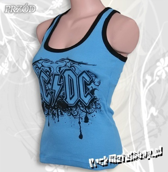 bokserka damska AC/DC - LOGO błękitna