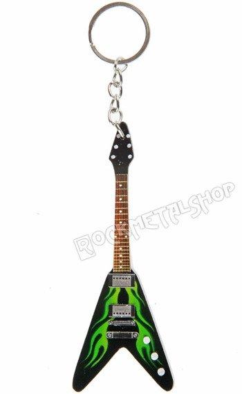 brelok / miniaturka gitary METALLICA - JAMES HETFIELD: ESP JH 1 FLYING V HOT ROD