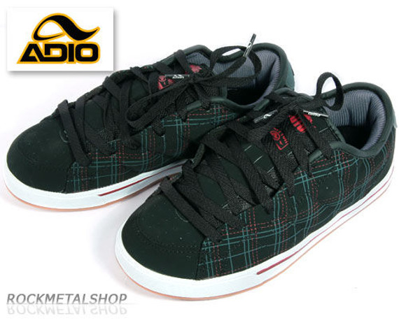 buty ADIO - DRAYTON black-plaid-gum [62070]