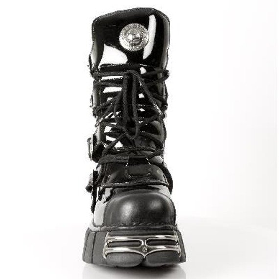 buty NEW ROCK - Itali Negro y Charol Negro, Tower Negro Acero (M.313 - S1)