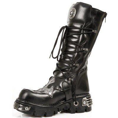 buty NEW ROCK Itali y Nomada Negro Antik Acero [M.403 - S1]
