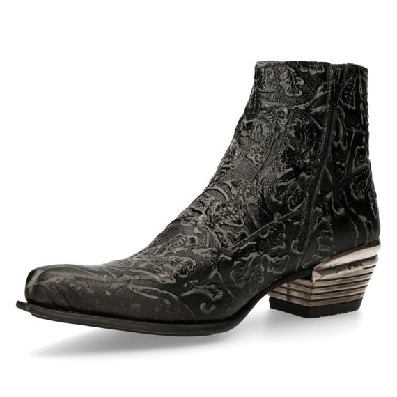 buty NEW ROCK VINTAGE RASPADO NEGRO WEST NEGRO ACERO T.DALLAS [NW131-S1]