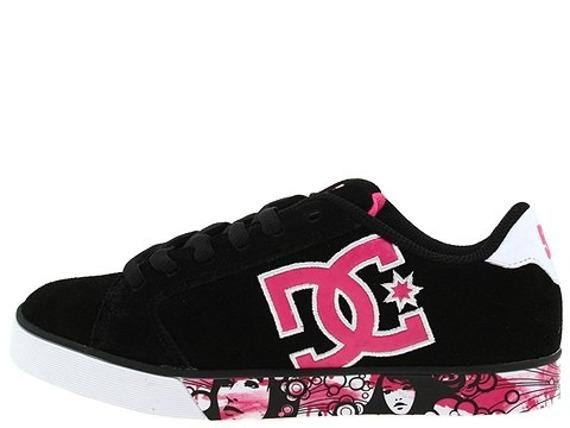 buty damskie DC- JOURNAL SE (BLACK/CRAZY PINK/WHITE)