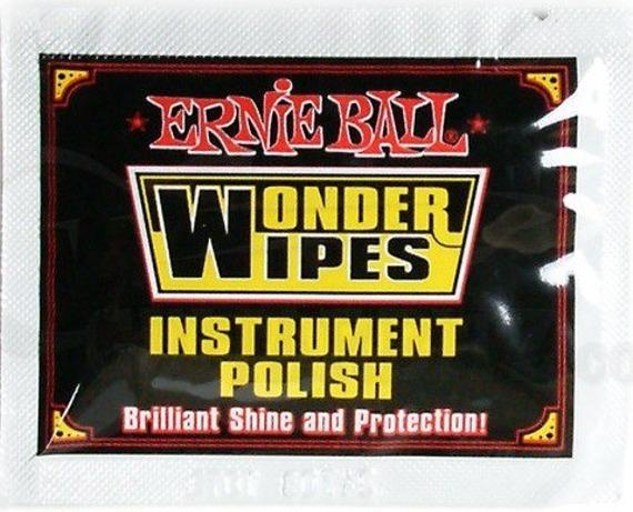 chusteczka do czyszczenia lakieru gitary ERNIE BALL WONDER WIPES EB4248