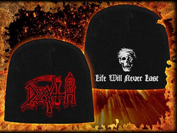 czapka DEATH - LIFE WILL NEVER LAST, zimowa