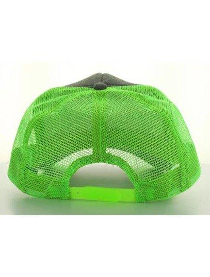 czapka MASTERDIS - BASEBALL CAP JERSEY TRUCKER, ht. charcoal/neongreen