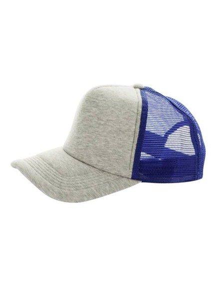 czapka MASTERDIS - BASEBALL CAP JERSEY TRUCKER, ht. grey/royal