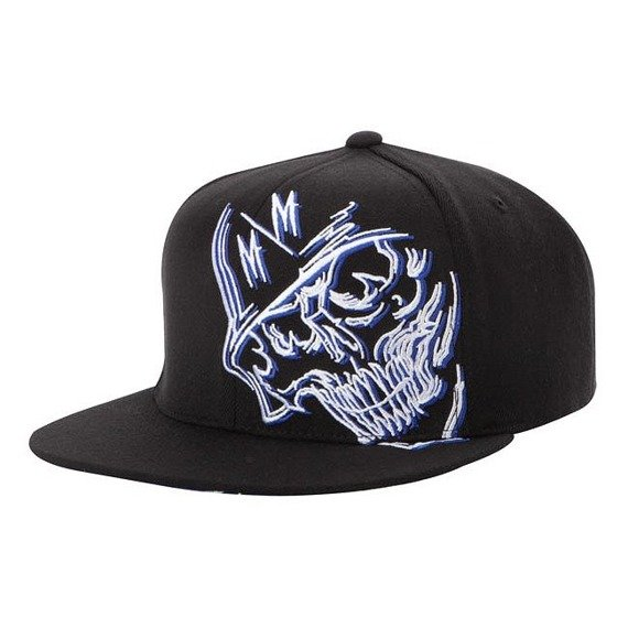 czapka METAL MULISHA - PANIC blue/black
